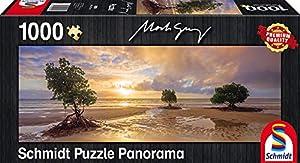 Schmidt Spiele Puzzle 59394-Mark Gray Cape Tribulation, Daintree National Park, Queen País, Australia, panorámica Puzzle, 1000Piezas