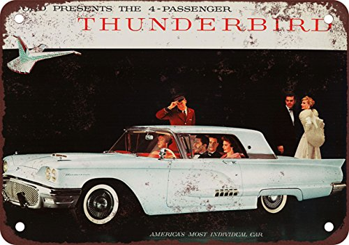 1958Ford Thunderbird Coupe vintage look Reproduction metal Sign