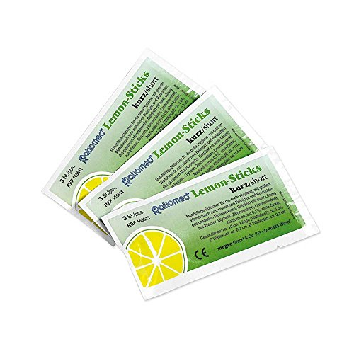 Ratiomed Lemon-Sticks Mundpflege-Stäbchen Dentalsticks kurz, zuckerfrei, 25x3 St