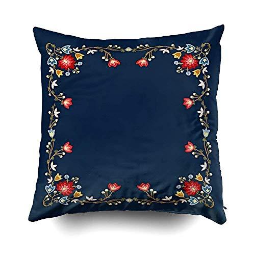 Daisylove Norwegischer Bunad Folk Kostüm Muster Kissen Fall für Sofa Home Deko Kissenbezug Geschenk Idee Haushalt Kissenbezug Reißverschluss Kissenbezug 45,7 x 45,7 cm