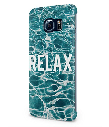 Relax By The Pool Summer Vibes Fresh Ocean Water Plastic Snap-On Case Cover Shell For Samsung Galaxy S6 EDGE