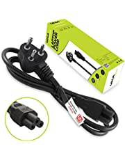 Gizga Essentials Laptop Power Cable Cord- 3 Pin Adapter Isi Certified(1 Meter/3.3 Feet)