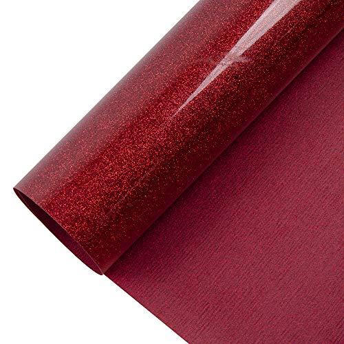 Vinyl Heat Transfer Vinyl Schneidfolie zum Aufbügeln auf Papier DIY T-Shirt Kleidung für Heißpresse Maschine (50 cm x 200 cm Rolle) 50cmx200cm rot ()