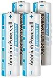 PEARL AA Akkus: Hybrid-Akku AA Mignon 2100 mAh Aeonium Powercell 4er-Set (Akku Batterien wiederaufladbar)