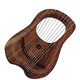 Lyre Harpe 10cordes métal/Lyra Jante Harpe 10cordes avec différentes couleur Brown Chain