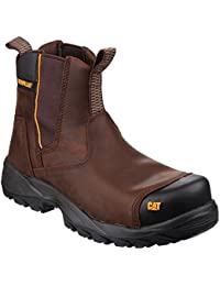 CAT Workwear Mens Propane Leather Pull on Dealers Safety Boots