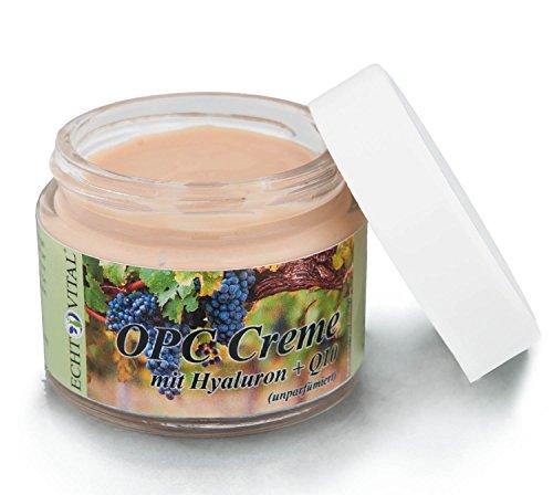 Echt Vital OPC Creme mit Hyaluron + Q10 - ohne Parfüm - 1 Tiegel mit 50 ml