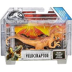 Jurassic World Dinosaurio Velociraptor de ataque, color beige (Mattel FVJ88)