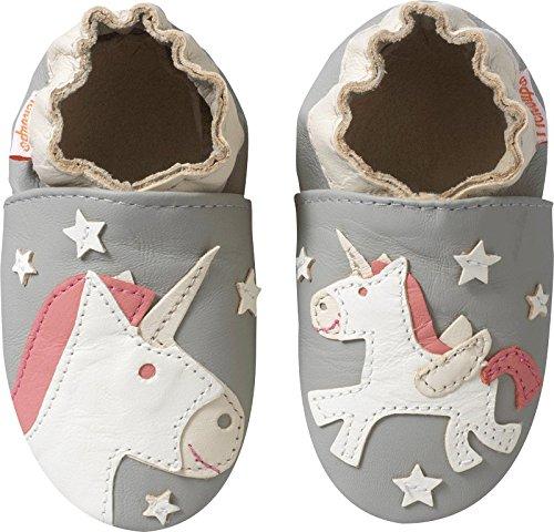 Tichoups chaussons bébé cuir souple lilou la licorne