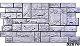 1 PVC Dekorplatte Steindekor Wandverkleidung Platten Wand 98x49cm, 52870