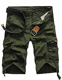 97cb07c1397cd Highdas Pantalones Cortos de Carga para Hombres de Verano Pantalones Cortos  Casuales Pantalones Cortos de Hip