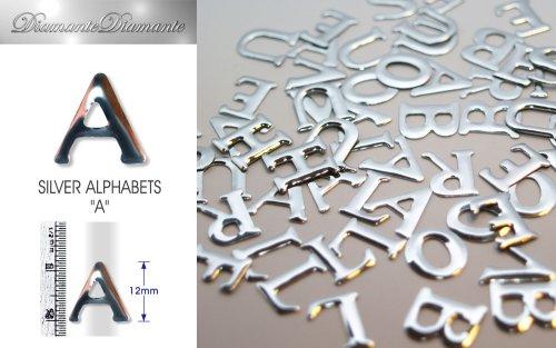 Diamante 3000 mit mit-Zeichensätze–Buchstabe A in Silber Farbe, 6Stück, 12mm in der Höhe
