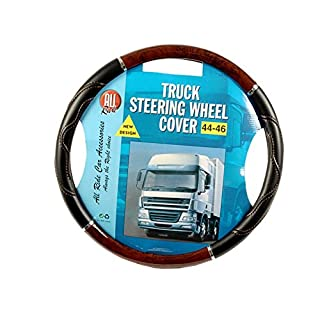 All Ride 871125272283Steering Wheel Cover Truck, Wood Effect