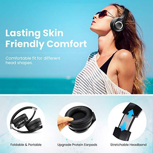 Bluetooth Kopfhörer, ELEGIANT Bluetooth 4.1 Wireless Stereo Headset drahtlose Kopfhörer Ohrhörer On Ear Kopfhörer + Mic/Freisprechfunktion + 3,5mm Audio AUX für Smartphone - 4