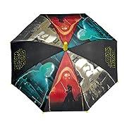 Ombrello lungo automatico Star Wars per bambini COMPOSIZIONE 8 stecche antiventomanico in plasticaapertura con sicurezza bambinimulticoloremateriale impermeabile MISURE altezza 48cmdiametro 84cm