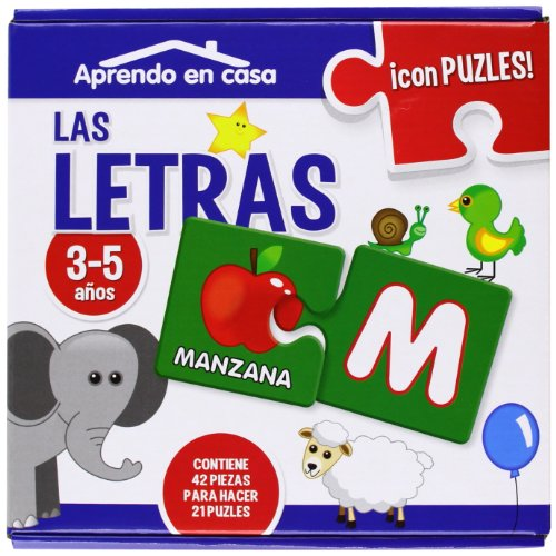 APRENDO EN CASA LAS LETRA PUZLES EDUCATIVOS (3-5 años) por Mónica MARTÍNEZ VICENTE