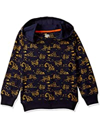 Amazon Brand - Jam & Honey Boy's Lightweight All Weather Sweatshirt Cotton (JHAW19BSWT914_Navy_10 Years-11 Years)