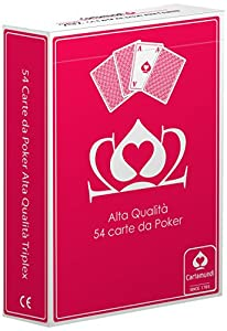 Cartamundi Poker Juego 54Cartas Poker, Juego de Cartas, Juegos de Mesa, Estuche Rojo