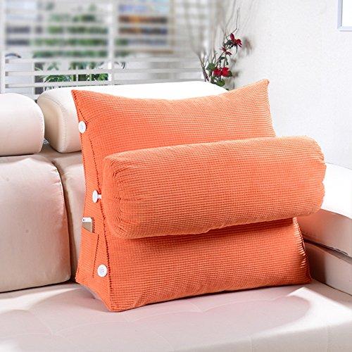 Sofa Kissen Kissen / Dreieck Kissen / Bett Kissen / Büro Taille Kissen Kissen / Bett Kissen Nackenkissen ( Farbe : Orange , größe : 60*20*50cm )