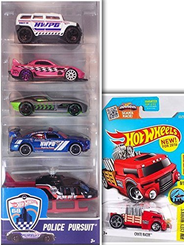 hot-wheels-bundle-police-pursuit-showdown-5-pack-24-seven-fast-felion-dodge-charger-drift-car-rockst