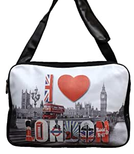 SAC BESACE REPORTER MESSENGER LONDON UNION JACK