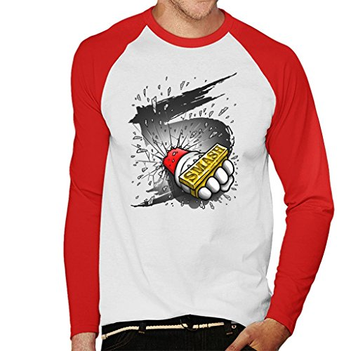 Super Smash Bros 5 Knuckle Duster Men's Baseball Long Sleeved T-Shirt