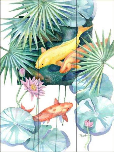 Fliesenwandbild - Tropical Pool 2 - von Paul Brent - Küche Aufkantung/Bad Dusche - Keramische Fliesen Pool
