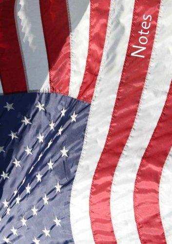 Notizbuch / Tagebuch - Amerikaflagge: DIN A5, liniert