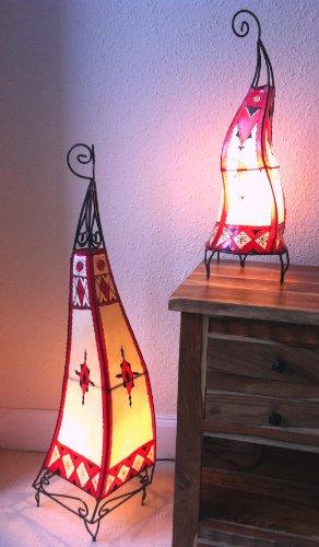 Marokkanische/lackiert Henna Lampen- Square 100cm & rund 60cm, rot & Creme