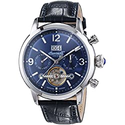 Ingersoll Men's Automatic Watch Belle Star IN1826BL with Leather Strap