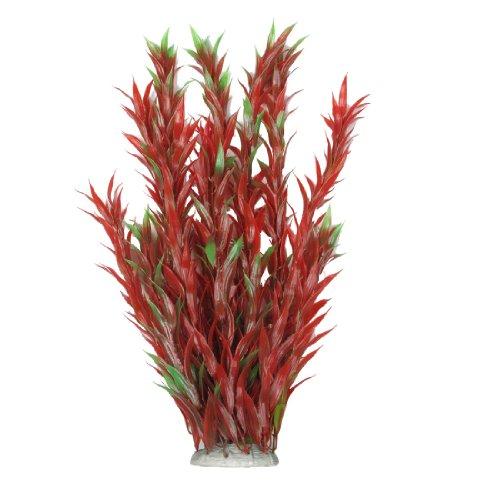 sourcingmap® Lungo Rosso Verde Plastica Piante Ornamento Decorazione per Acquario Acquario