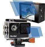 4x Crystal clear klar (2 Folien pro Display) Schutzfolie für Rollei Action Cam Actioncam 350 Premium Displayschutzfolie Bildschirmschutzfolie Schutzhülle Displayschutz Displayfolie Folie