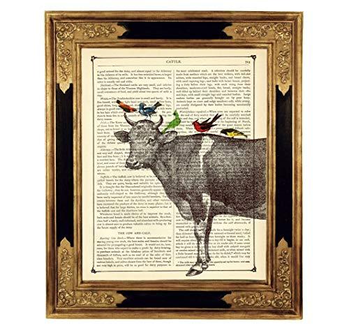 Poster Druck auf antiker Buchseite Geschenk Bild Kinder ungerahmt ()