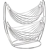 Planet Stainless Steel Double Step Swing Fruit & Vegetable Basket For Kitchen / Fruit Basket For Dining Table / Fruit & Vegetable Storage Basket