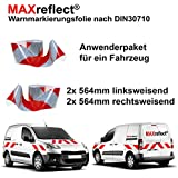 Max Ref lect® usuarios del paquete–Wolkdirekt–/YOUR Design/Reflex Pantalla DIN 30710–141mm de ancho