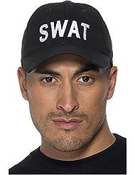 Smiffy's 35463 - Swat Baseballmütze auf Display Card, schwarz