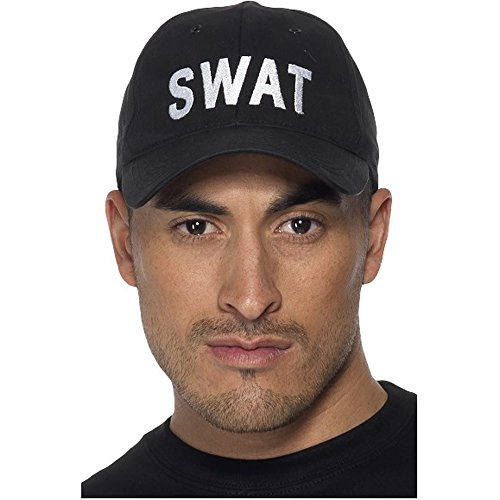 Imagen de swat baseball cap, black, cops & robbers fancy dress, , one size, unisex disfraz