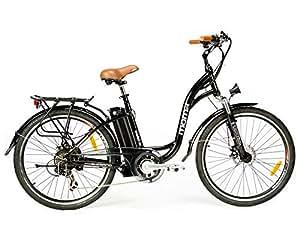 """Moma Bikes, Bicicletta Elettrica SHIMANO, ruota da 26"""", Alluminio, Battería Ion-Litio 36V 16Ah"""