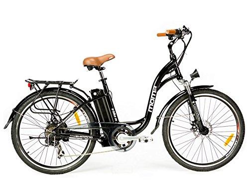 Moma Bikes, Bicicletta Elettrica SHIMANO, ruota da 26', Alluminio, Battería Ion-Litio 36V 16Ah