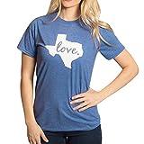 Frau Shirt CLOOM Kapuzenpullover Damen Sweatshirt Valentinstag outwear Sommer Blusentop Ärmellos Bluse Basic Damen T-Shirt O-Ausschnitt hemd Mode Hoodies Tunika Love (Blau, M)