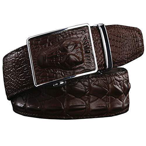 RXBGPZPD Leder Gürtel Mode Aus Echtem Leder Gürtel Für Männer Wide Luxury Designer Krokodil Automatische Legierung Schnalle Mann Gürtel Hohe Qualität Gurt -