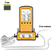 TOROAST Telecomando Wireless Termometro per Barbecue|Termometro Digital da Cucina|Termometro per Forno|Termometro per Alimenti|Termometro per Carne|300 Feet|Allarme di Temperatura Intelligente|LCD