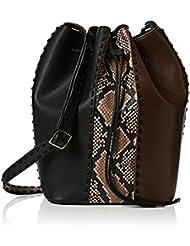 French Connection Damen Robyn Whipstitch Bucket Bag Schultertaschen