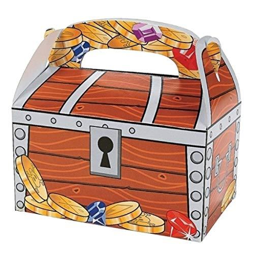 Elfen und Zwerge - Schatztruhe - Kiste für den Piratenschatz - Box als Geschenkverpackung oder Mitgebsel - aus Karton - 6 Stück (E-mail Ritter)