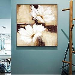 haoxinbaihuo Pinturas De Arte De La Lona De Las Flores De La Margarita Grande Abstracta En La Pared Modernos Cuadros De La Pared Posters para La Sala De Estar 60 * 60Cm