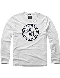 Printemps et automne hommes 's T-shirt à manches longues en coton col rond acier rapide pour homme