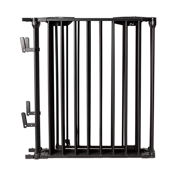 COSTWAY 6&8 Panel Baby Playpen Metal Foldable Design Multiple Use for Pet Fence, Room Divider, Yard Barrie, Fire Guard (8 Panels, Black) Costway 【Two installation modes】Our item have new 2 installation modes that it can be fully spliced as a circle or 2 sides unfurled to mounting on the wall. It can change flexibly according to your needs. It has the advantages of little space occupation, one object with multifunction, simple structure, and light weight. 【Safety door panel design】We have upgraded our door panel entirely to makes it safer. Different from the traditional straight opening door panel, our door panel has a special design that it needs to lift up while holding the switch to open it. 【Nail wall plastic parts set】Coming with a set of nail wall plastic parts, this set can meet your need to fix the item on the wall. When you want to change the installation mode, you can also leave these parts on the wall and only remove the item which will make your next installation more convenient. 9
