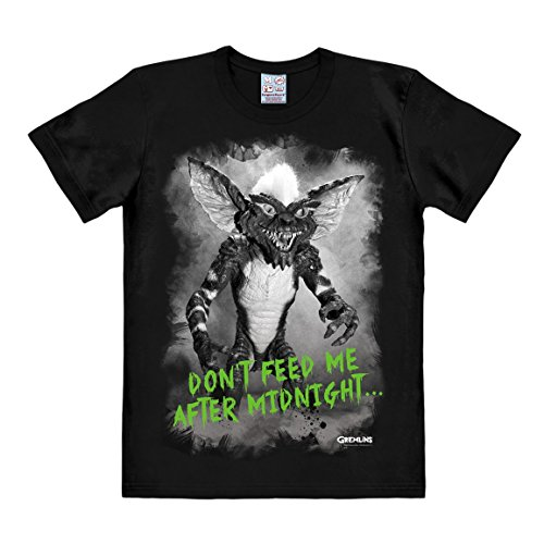 Logoshirt Herren Freizeithemd Gremlins-After Midnight, Schwarz, XL
