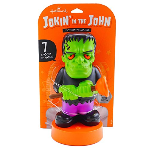 Hallmark Jokin 'in die John Halloween Figur, Flush-n-Stein, Motion Aktiviert