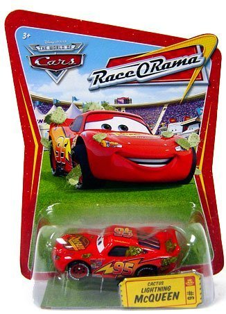 Disney / Pixar CARS Movie 1:55 Die Cast Car Series 4 Race-O-Rama Cactus Lightning McQueen by Mattel
